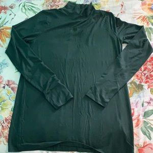 Army green long sleeve turtle neck